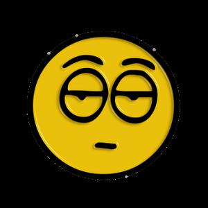 tired smiley face, sleep
