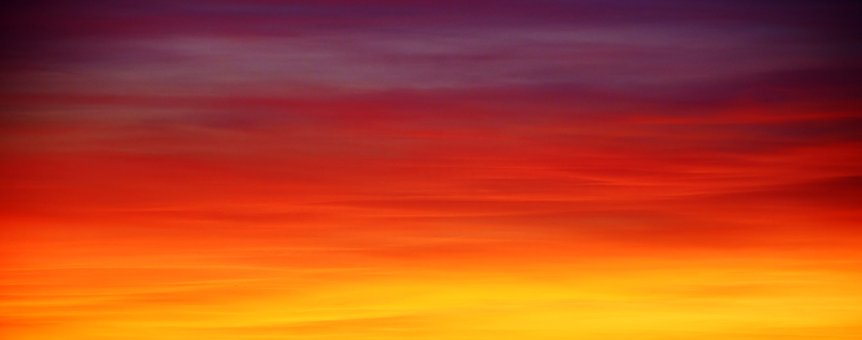 sunset, a calm scene before nighttime
